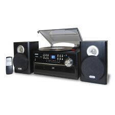 Jensen 3-Speed Stereo Turntable with CD System  Cassette and AM/FM Stereo Radio