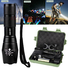 5000LM XML T6 Zoomable LED Tactical Flashlight 18650 Battery Charger Torch Light