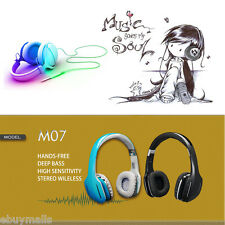 Wireless Bluetooth Stereo Bass Headphone Headset Handsfree for iPhone Samsung LG