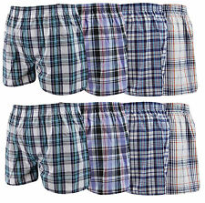3,6,12 Pairs Mens Check Woven Cotton Rich Boxer Shorts Underwear Briefs S M L XL