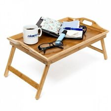 Foldable Bed Tray Bamboo Lacquered Breakfast In Bed. Shipping Included