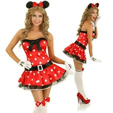 Adult Cute Minnie Mouse Costume Halloween Animal Pin Up Girl Dress Party Outfit