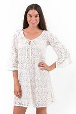 New Aloha Cotton Lace Chic Dress or Tunic – White XS – 3XL