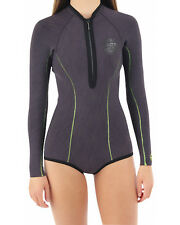 NEW RIP CURL G BOMB 1MM NEOPRENE SPRINGSUIT  12 WOMEN WETSUIT CHARCOAL