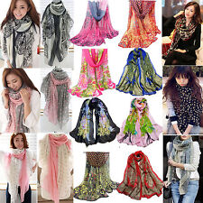 24Styles  Women Fashion Pretty Long Soft Chiffon Scarf Wrap Shawl Stole Scarves
