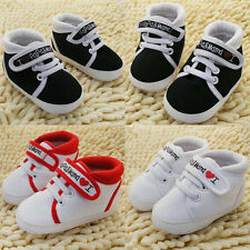 Baby Boys Girls Crib Shoes Infant Toddler Canvas Soft Sole Anti Slip Sneakers