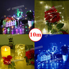 100PCS LED String Fairy Lights String Xmas Garden Outdoor Party Wedding Decking
