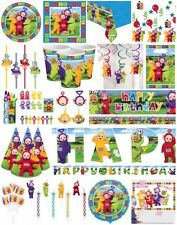TELETUBBIES BIRTHDAY PARTY Table cover Loot Bags Plates Napkins Balloons