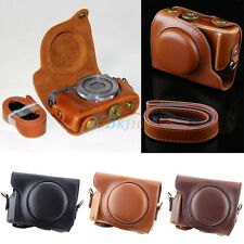 New PU Leather Camera Hard Case Bag Grip Strap For Canon Powershot G9X G9 X