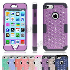 Blingbling Crystals Diamond Rugged High Impact Shockproof Combo Case For iPhone