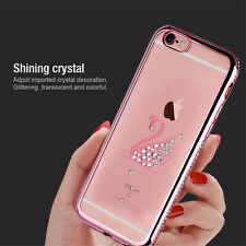 Shine Bling Clear Crystal Diamond Soft TPU Phone Case Cover For iPhone 5 6 Plus