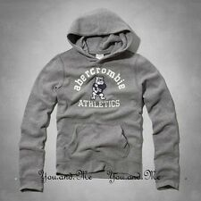 NEW ABERCROMBIE FITCH KIDS A&F Boys Vintage Mascot Hoodie Pullover H Grey M L XL