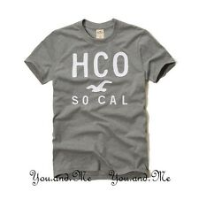 NEW HOLLISTER S/S LOGO GRAPHIC TEE T SHIRT MEN Dixon Lake Heather Grey S M L XL