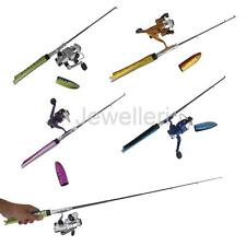 Telescopic Pen Fishing Rod + Spinning Reeel Fish Hand Tackle Sea Pole Portable