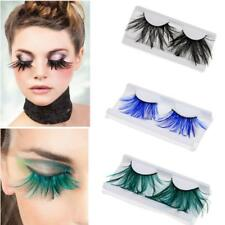 1 Pair Women Costume Feather Exaggerated Party Fake False Eyelashes Eye lashes