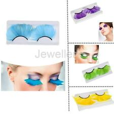 Women Costume Feather Exaggerated Party Fake False Eyelashes Eye lashes -4 Color