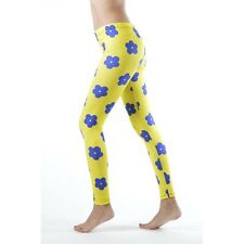 Dinamit Jeans Blue Flower Yellow Ankle Leggings (See More Sizes)