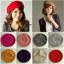 Stylish & Chic French Style BERET Hat ~ POP of Colour ~ 100% Wool in 13 Colours