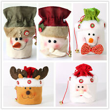 Fancy Christmas Santa Claus Snowman Elk Candy Gift Bag Party Xmas Decoration