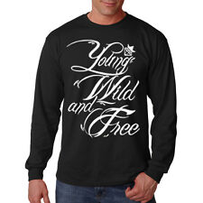 Young Wild & Free Wiz Khalifa Hip Hop Rap Music Lovers Long Sleeve T-Shirt Tee