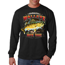 Fishing For Walleye Bite This Fish Big Angler Long Sleeve T-Shirt Tee