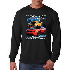 Ford Mustang Boss 302 Live The Legend Classic Muscle Car Long Sleeve T-Shirt Tee