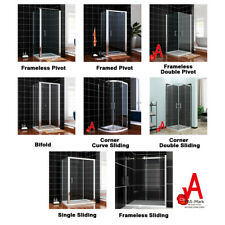 Shower Screen Pivot/Sliding/Bifold/Corner Entry Door with Glass Panel Reversible
