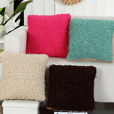 Solid Hairball Pillow Case Comfy Soft Cushion Cover Sofa Office Home Decor FN167
