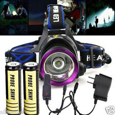 Rechargeable CREE XM-L LED Headlamp Headlight Flashlight Torch Head Light Set US