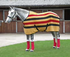 NEW Shires Fleece Horse Pony Rug Newmarket Stripe - Cooler / Travelling / Layer