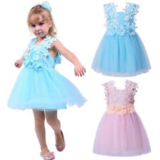 Baby Girls Flower Lace Tulle Princess Party Dress Toddler Kids Wedding Holiday