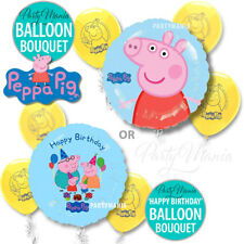 PEPPA PIG BIRTHDAY PARTY SUPPLIES DECORATIONS HAPPY BIRTHDAY BALLOON BOUQUETS