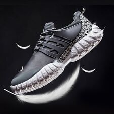 New Mens Breathable Casual High top Flats Leather Leisure Sneakers Sports Shoes