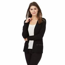 The Collection Womens Black Ribbed Cardigan From Debenhams