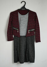 New Kids Girls Long Sleeve Jacket Evening Party Knitted Dress 4 - 13 years