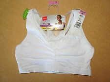 New - HANES Sport Pullover Sports Bra - 2 Pack  #H370 - White -36,38,42,44,46,48