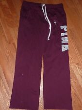 "VICTORIAS SECRET PINK LIMITED ED MARLED ""PINK"" BOYFRIEND SWEATPANTS CHOICE NWT"