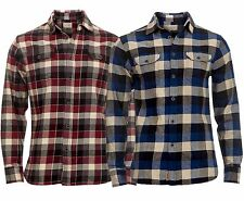 NEW Jachs Mens Warm Brushed Cotton Square Check Long Sleeved Casual Shirt S-XL