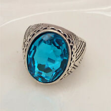 Vintage 316L Stainless Steel Vogue Design Mini Stone Ring New Size 8 9 10 11 ~