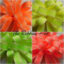 15MM FLO NEON STITCH RIBBON 4 COLOURS 4 LENGTHS BY BERISFORDS