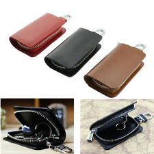 Leather Car Key Chain Ring Keychain Fob Holder Case Purse Pouch Wallet Bag Cover