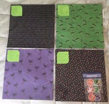 "Coordinated 12x12"" Scrapbooking Paper Lot - HALLOWEEN"