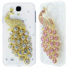 Bling Rhinestone Crystal Peacock Clear Hard Case Cover for Samsung Galaxy i9500
