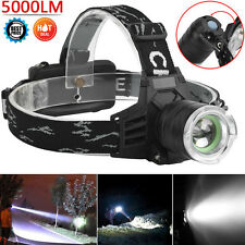 5000Lm CREE XM-L XML T6 LED Headlight 18650 Headlamp Flashlight head Light US
