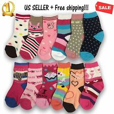 3,6,12 Pairs Yanoir Girls Ankle Cut Socks Crew Cotton Athletic Dress Casual Size