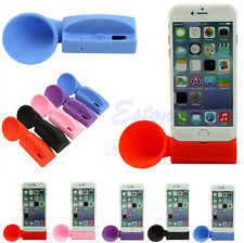 Silicone Horn Speaker Stand Amplifier Loudspeaker For Apple iPhone 6 5 5S 4 4S