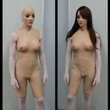 cyberskin body suit zentai breast with girdle CD TG DRAGQUEEN, 2 SIZES 4 COLORS