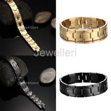 Quality Men's Stainless Steel Cross Spanish Bracelet Cuff Chain Fashion Jewelry