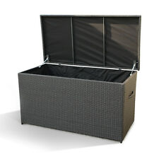 POLY RATTAN STORAGE BOX CASE MODENA 160 CM OUDOOR WICKER CUSHION