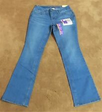 WOMEN'S JEANS FADED GLORY STRETCH MID RISE BOOT CUT TUMMY CONTROL NEW WITH TAGS